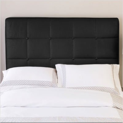 discount tufted leather inflatable headboard in black faux leather size king air bed and frame. Black Bedroom Furniture Sets. Home Design Ideas