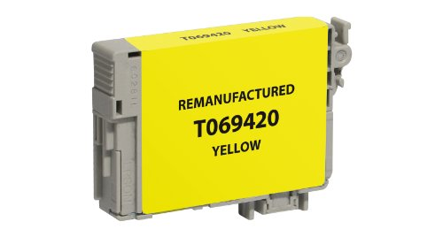 Clover Technologies Group Remanufactured Ink Cartridge Replacement for Epson T069420 (Yellow) replacement projector bare lamp for epson elplp67 v13h010l67
