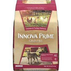 Detail image Innova Prime Grain Free Chicken & Turkey Adult Dry Cat Food, 5 lbs.