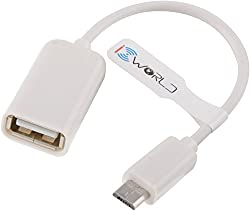 Micro USB OTG Cable for OTG Supported Tablets and Mobiles (White)