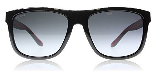 Gucci 1118S 51N Black Green Red 1118S Wayfarer Sunglasses Lens Category 3