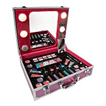Barbie Vanity Light Up Mirror : Professional Makeup Cases Vanity Table with Mirror