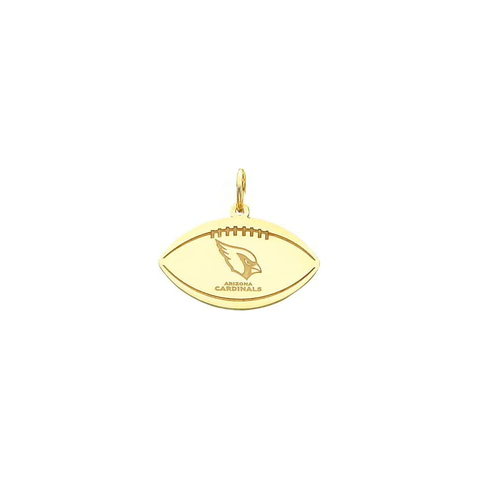 14K Gold NFL Arizona Cardinals Logo Football Charm Sports