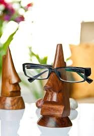 Onlineshoppee Wooden Nose Shaped Spectacles / Glasses Holder / Specs Stand