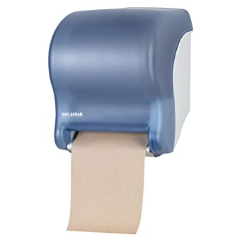 "San Jamar T8000 Tear-N-Dry Essence Towel Dispenser, Fits 8"" Wide Roll, 11-3/4"" Width x 14-7/16"" Height x 9-1/8"" Depth, Arctic Blue"