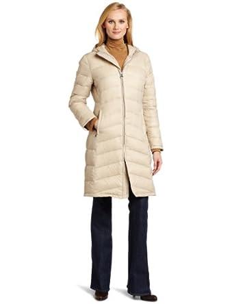 Calvin Klein Women's Walker Packable Down Jacket, Flax, X-Small