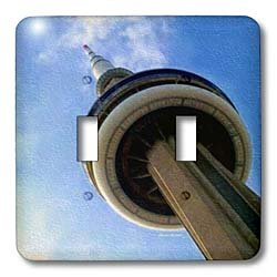 SmudgeArt Photography Art Designs - CN Tower Tronto Ontario Canada - Light Switch Covers - double toggle switch