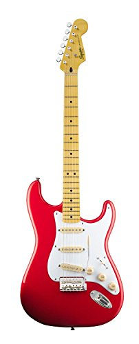 Squier By Fender Classic Vibe 50'S Stratocaster Electric Guitar, Fiesta Red