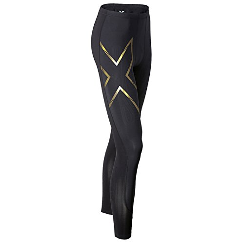 2XU Women's Elite MCS Compression Tights, Black/Gold, X-Large