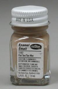 Flat Tan Testors Enamel Plastic Model Paint