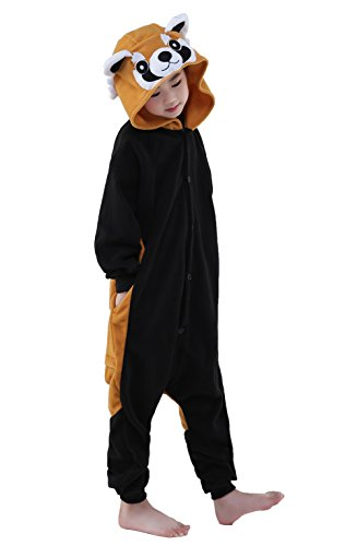 [NEWCOSPLAY Children Onesie Cosplay Costume Pajamas (XL, Raccoon)] (Raccoon Girl Costumes)