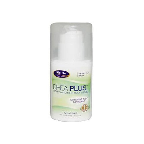 DHEA Plus Cream w/Pump Life Flo Health Products 2 oz Cream