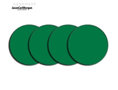 Telecommande JCM Jante en alliage Bouchon Badges pour SAAB FORD BMW (CLR 60 mm, Vert