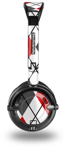 Skullcandy Lowrider Headphone Skin - Argyle Red And Gray - (Headphones Not Included)