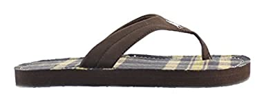 Polo Ralph Lauren Terrence Big Kids Sandals Brown/Road Multi Plaid 96527 (4 M US)