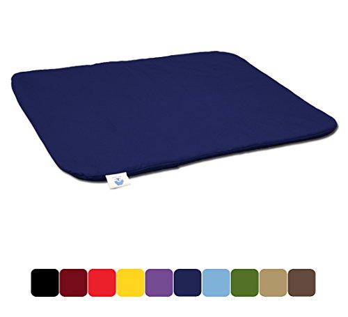 Tapis de méditation, Zabuton - Coussin plat Bleu Foncé