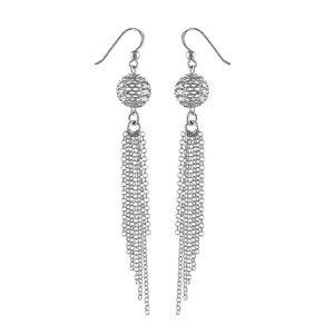 So Chic Schmuck – Damen-Ohrringe Ohrhaken Durchbrochene Kugel Kettchen Sterling Silber 925 als Weihnachtsgeschenk kaufen