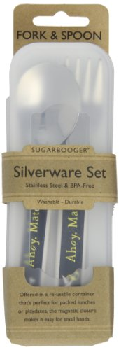 "Sugar Booger ""Ahoy Matey"" Feeding Collection Silverware Set (Discontinued by Manufacturer)"