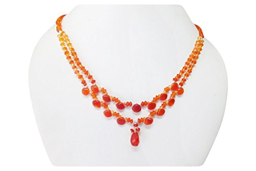 designer-carnelian-gemstone-beaded-necklace-finished-with-sterling-silver-findings-16-orange-carneli