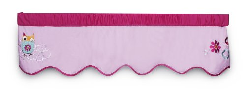 Zutano Owls Valance, Pink (Discontinued by Manufacturer)