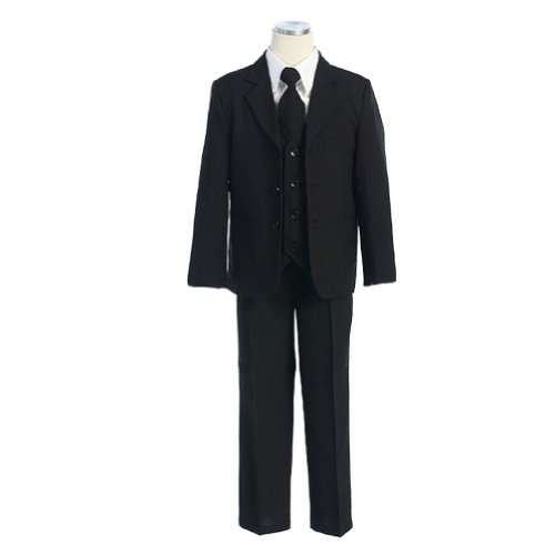 Classic Big Boys Suit In Black-Black/White-10 front-830631