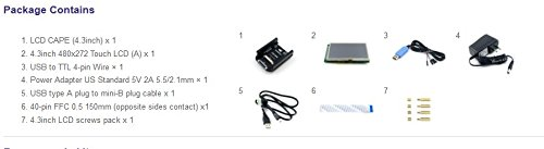 4.3 inch Touch LCD Display & 4.3 LCD Cape & Various Accessories for BeagleBone Black Beagleboard (Beaglebone Rev C) Starter Kit (Pack C) @XYG-Study rtd2668 universal hdmi vga audio lcd controller board kit for 15 6 inch n156bge l41 1366x768 lvds monitor kit easy to diy