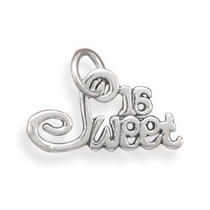 Sterling Silver Sweet 16 Charm Measures 11x19mm - JewelryWeb