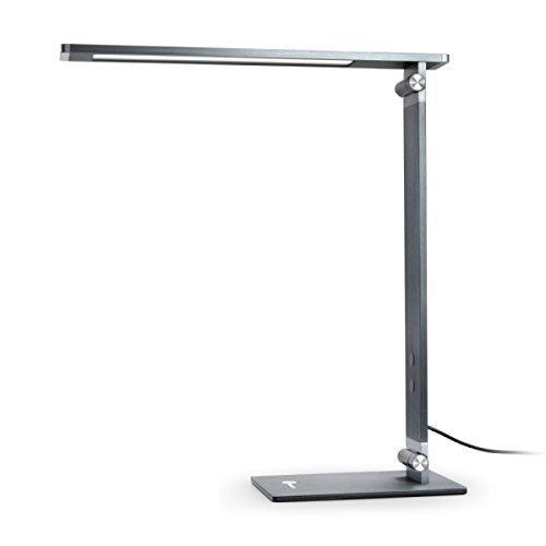 TaoTronics-10W-Schreibtischlampe-LED-100-Metall-Tageslichtlampe-aus-gebrstetem-Aluminium-Stabil-und-Haltbar-Touch-Control-4-Lichtmodi-und-4-Helligkeitsstufen-6000K5000K4000K3000K-klappbarer-Arm-flacke