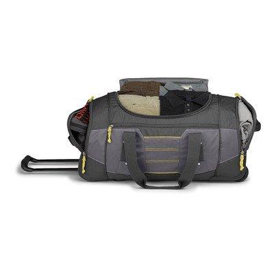 High Sierra Ultimate Access 2.0 Wheeled Duffel Bag, Mercury/Charcoal/Yell-O, 26-Inch
