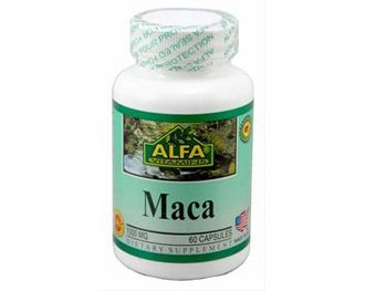 Alfa Vitamins Maca 500 mg 60 capsules Vitality Sexual Energy Enhancer