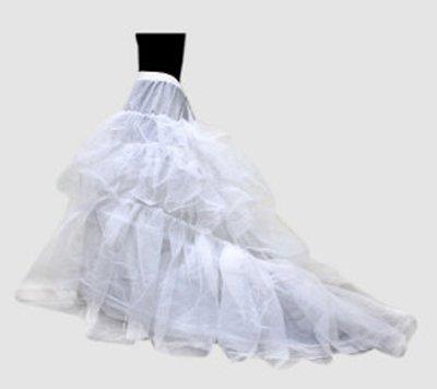 Sunvary Nylon 3 Tier Long White Slip Wedding Petticoats