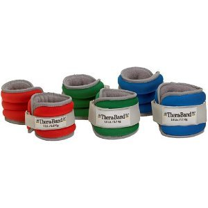 Thera-Band Comfort Fit Ankle/Wrist Cuff Weight Sets - Sold in Pairs-5lbs (two 2.5 lb cuffs)-Blue