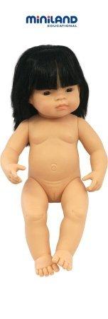 Miniland 15'' Anatomically Correct Baby Doll, Asian Girl front-858003
