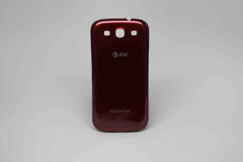 Battery Back Door Cover Replaement for Samsung Galaxy S III S3 i747 AT&T - Garnet Red (Samsung Galaxy S3 Red compare prices)