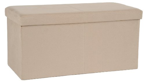 fhe group microsuede folding storage ottoman bench 30 by