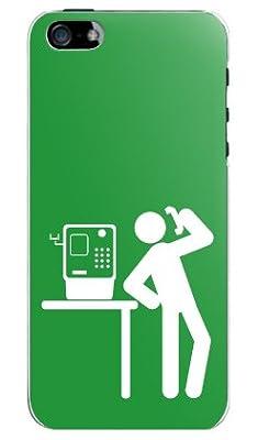 (公衆電話 ピクトグラム グリーン)iPhone5 SoftBank au専用ケース/カバー アイフォン5 iPhone5-OCA-0101