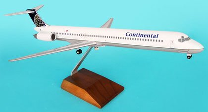 1: 100 スカイマークスSuprem Continental 航空 MD-80 with Wood Stand and Landing Gear (並行輸入)