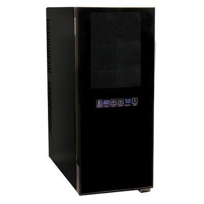 Haier HVTM12DABB 12-Bottle Dual Zone Mirrored Glass Door Wine Cellar