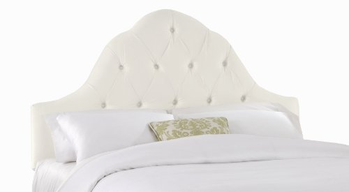 Skyline Furniture Kostner Arched Queen Headboard, Shantung Parchment