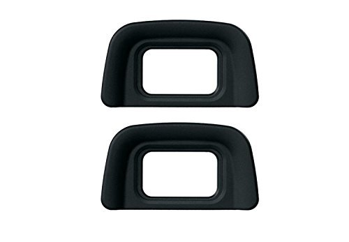 CEARI [2 Pack] DK-20 Rubber Eyecup Eyepiece Viewfinder for Nikon D3000 D3100 D3200 D5100 D60 D50 D40 D40X DSLR Camera + MicroFiber Clean Cloth