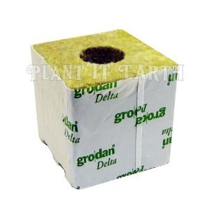 Grodan Rockwool - 4x4x4in. Cubes, 6 pack, w/holes