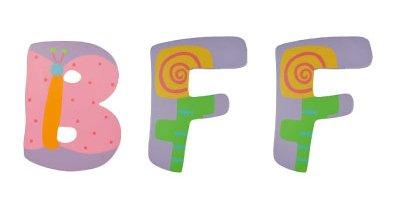 Tatutina's BFF Best Friends Forever Wooden Letter Set - 1
