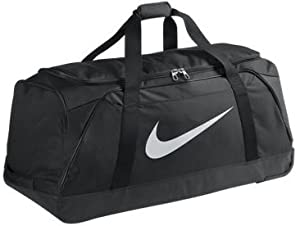 Nike Federation Wheeled Holdall Bag Black by UK MAINLAND DELIVERY ONLY