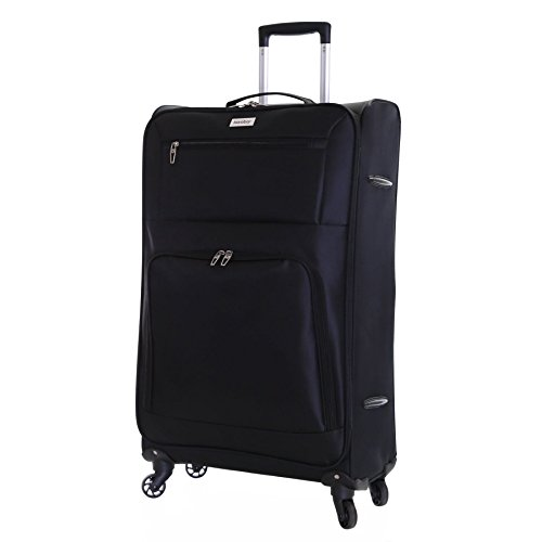 Karabar Lecce super leggero quattro ruote valigia, Nero