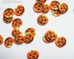 Nail Art 120 Tiny Fimo Halloween Pumpkin Faces in Small Carousel [Misc.]