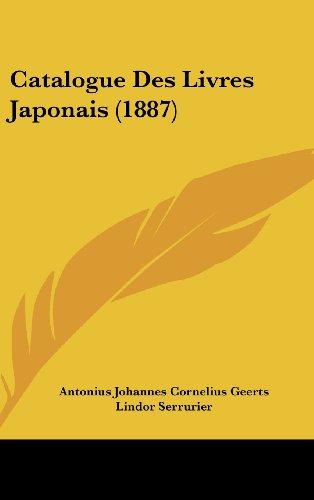 Catalogue Des Livres Japonais (1887)