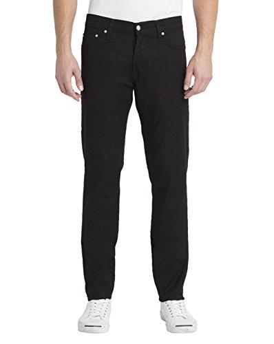 jeans-tapered-fit-stretch-klondike-huron-noir-lave-pour-homme-