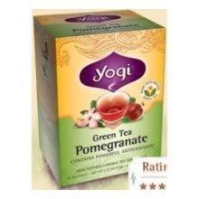 Yogi Tea Co Organic Pomegranate Green Tea - 16 Bags Per Pack -- 6 Packs Per Case.