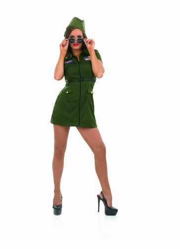 Aviator Girl - Adult Fancy Dress Costume. S to XXL