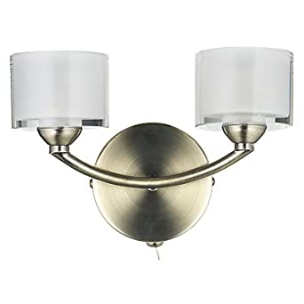 Ex John Lewis Paige Double Wall Light, Antique Brass: Amazon.co.uk: Lighting